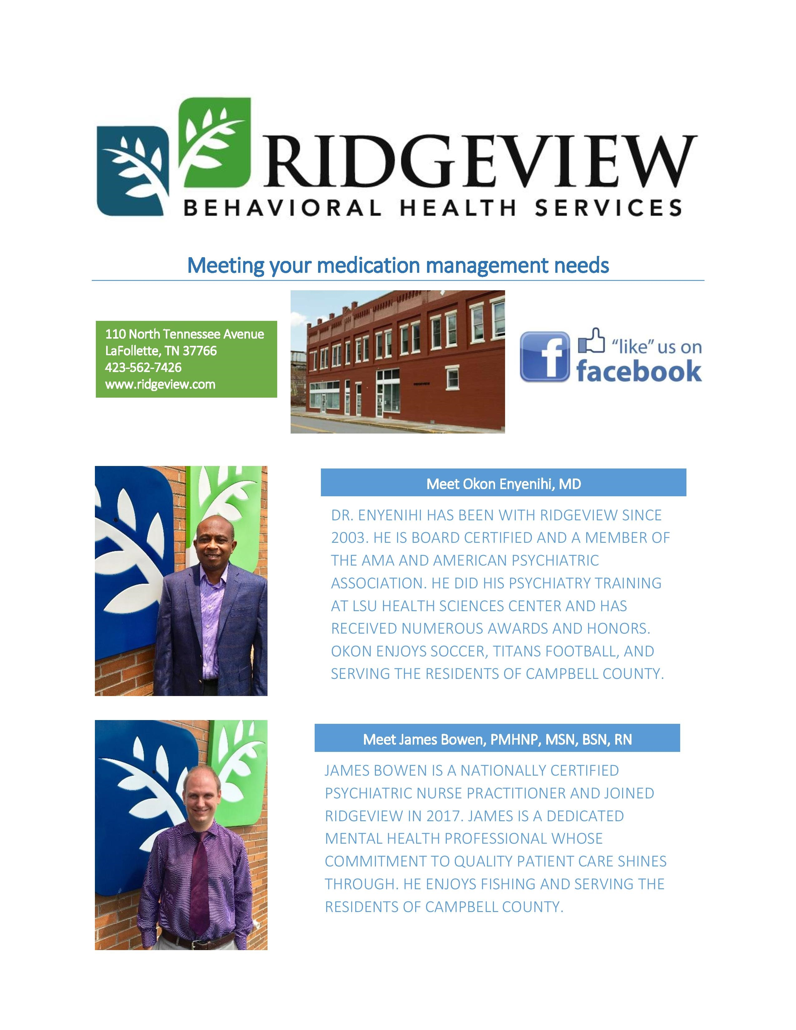 Campbell Outpatient Center - Ridgeview Behavioral Health